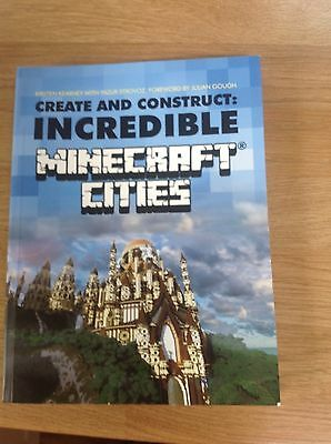 Minecraft Book Create and Construct Incredible Minecraft Cities NEW