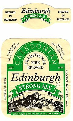 Caledonian Brewery Edinburgh Strong Ale Beer Bottle Label