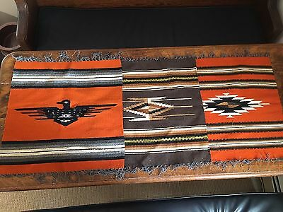 Set Of 3 American Indian Wool Rugs Zuni/Navajo? Handmade Thunderbird Diamond