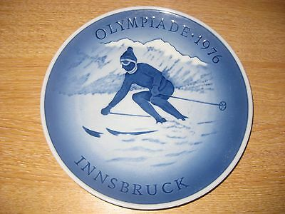 Innsbruck Winter Olympics 1976 Commemorative Plate