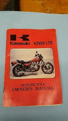1976 kawasaki kz900 Ltd owners manual.oem.z1 b1
