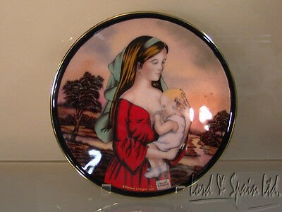 Betourne Enameled Limoges 1975 Ltd Edition Mothers Day Plate