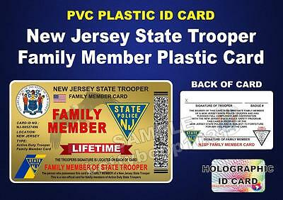 Lifetime Njsp New Jersey State Police Card For Family Member Of Trooper Pba Fop