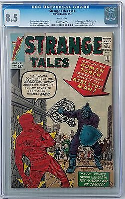 Strange Tales #111 CGC 8.5  WHITE PAGES  2ND ever Appearance of DR. STRANGE