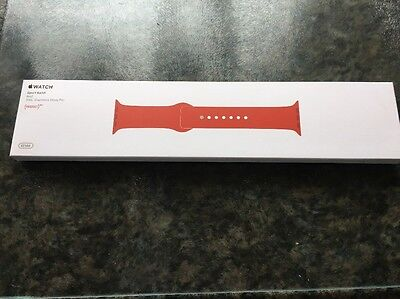 Genuine Apple Watch Sport Band Product Red 316L Stainless Steel Pin 42mm