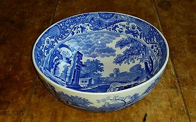 Copeland Spode Blue Italian Pattern  Large Fruit Bowl Vintage