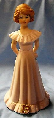 Enesco Growing Up Birthday Girls Doll Figurine Age 13