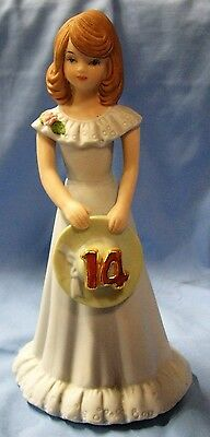 Enesco Growing Up Birthday Girls Doll Figurine Age 14