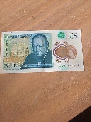 five pound note aa01