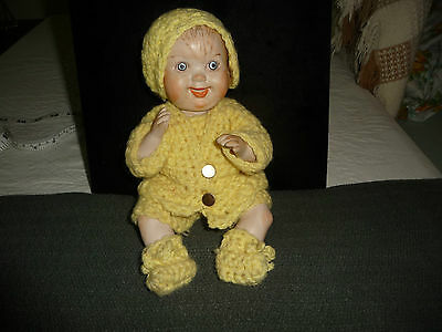 ALL Bisque JOINT baby boy 9 1/2'' L doll  by Bell Conway ? 1976 ?