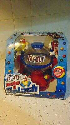 """Mars Collectible M&M's """"Make a Splash"""" Candy Dispenser Yellow & Red M&M"""