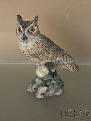 Boehm Porcelain GREAT HORNED OWL Bird Figurine-#20074-American Owl Collection