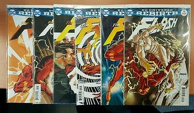 DC Comics Rebirth The Flash #1-6 variants by Dave Johnson all 1st print