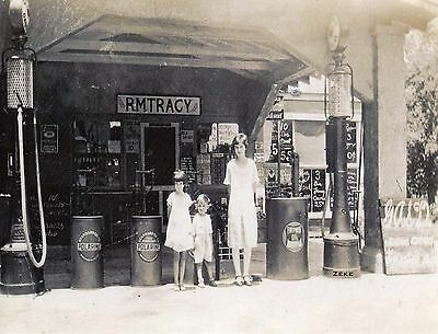 Orlando Fl Rm Tracy General Store & Gas Station 1928 Photo Card