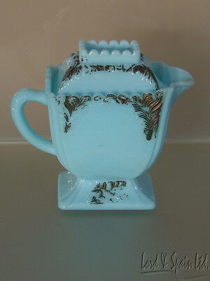 Westmoreland Specialty Glass Blue Milk Glass Covered Sugar W/Lid-Late 1800's