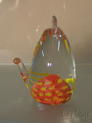 Caithness Art Glass Stylized WHISKERS THE CAT Figurine/Paperweight