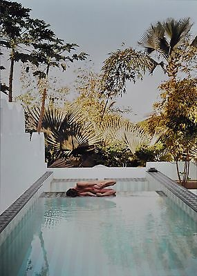 Marc Lagrange Original XXML Photo Print 50x70cm Pilates 2011 Nude Swimming Pool