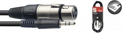 Stagg Audio Cable Mini Jack To Female XLR - 1M & 3M Lengths Available