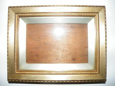 Small Stylish Antique 19Th C. Highly Patinated Giltwood Picture/portrait Frame