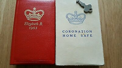 Coronation 1953 Home Safe In Original Box With Key ( Unused ).