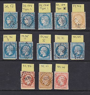 FRANCE; 13 early issues very fine used, good cat value.