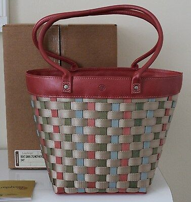 Longaberger 2008 Mothers Day Longaberger To Go Pink Large Tote Purse NEW Rare