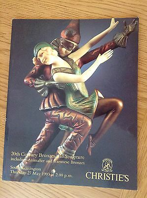 CHRISTIE'S CATALOGUE - 20th CENTURY BRONZES AND SCULPTURE INCLUDING ANIMALIER