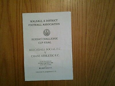 Beechdale Social v Chase Athletic Programme 1999