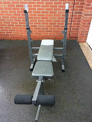 Folding Weight Bench, Barbell and Weights Home Gym Exercise Fitness Body Workout
