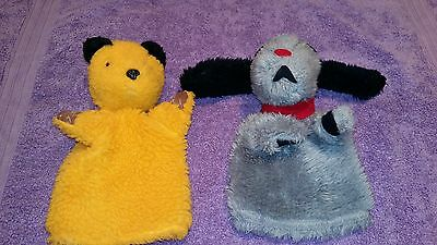 2 Vintage / Retro Chad Valley Glove Puppets- Sooty & Sweep. Good Condition