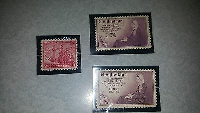 US MNH Postage Stamps - Scott #736 - #738 Commemoratives from 1932