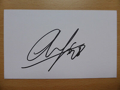 Hand Signed Football Index Cards *****A***** Page 3