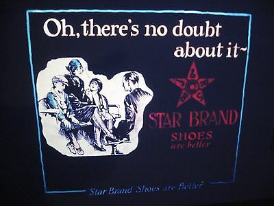 1920's Blackhawk Films Star Brand Shoes Advertising Slide