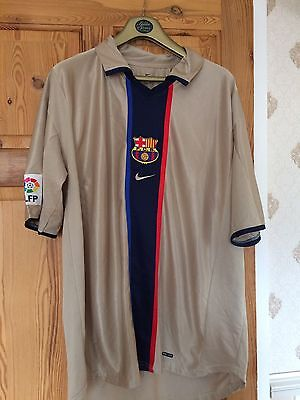 Vintage Barcelona Gold Football Shirt - XL - Excellent Condition  -