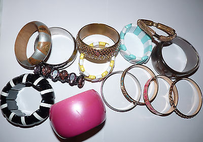 Great Mixed Lot Of Bracelets & Bangles. 14 Items in Total. Bargain!!!!