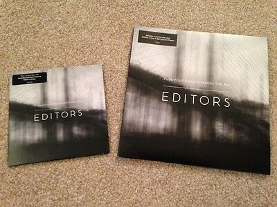 """Editors - Push Your Head Towards The Air - rare numbered 7"""" and cd single"""