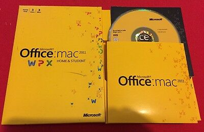 Microsoft Office 2011 for Mac Home and Student -Family Pack (3x Licenses)