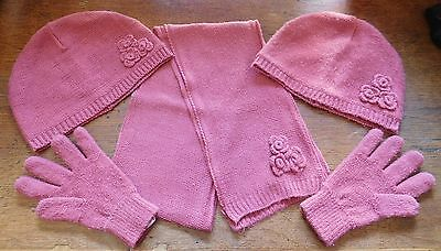 Vertbaudet Girls Hat x 2, Scarf & Gloves - 10-12 Years - Used