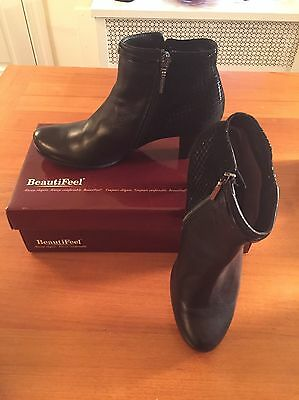 Black leather Beautifeel 38 7.5 Shoes Women's Boots