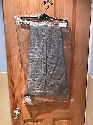 Men's Ted Baker Smart Formal Trousers BNWT 34 L Grey Check