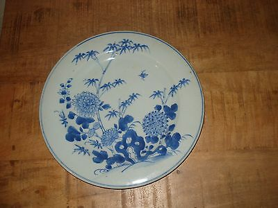 stunnning chinese 17th century qianglong qing period blue white plate