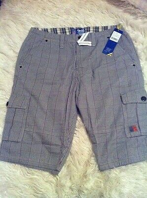 mens Gio-Goi check 3/4 trousers shorts - size medium *New*