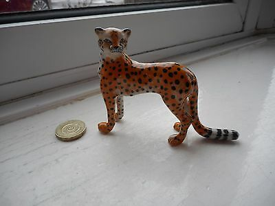 Cheetah - Beautiful Miniature Pottery  Standing Cheetah, Fantastic Detail