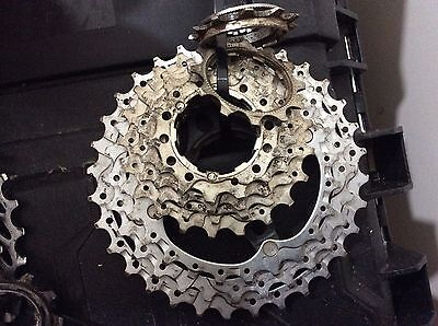 Shimano hg80 9 speed 11-32t cassette, compatible with SRAM chains