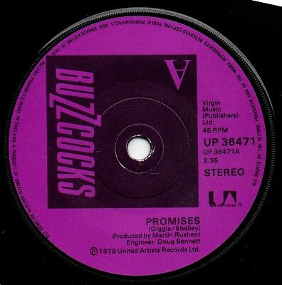 Buzzcocks - Promises - VERY RARE SOLID CENTRE!!