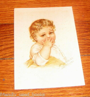 Baby finger in nose Victorian trade card McLaughlin Coffee