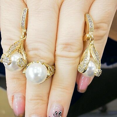 925 Silver Craftsman Jewelry Akoya White Pearl Earring & Ring Sets