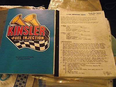 Kinsler Fuel Injection Manual/litrature - Trouble Shooting/ Setting Etc