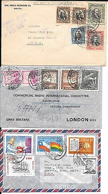 lot 137 Chile Nice Airmail covers