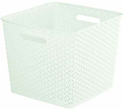 Brand New Curver My Style 196862 Storage Box Rattan Effect Large 25L Cream